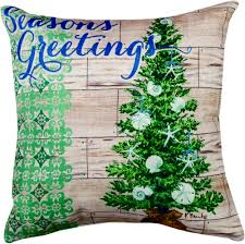 Outdoor Christmas Pillows by Coastal Holiday Season U0027s Greeting Climaweave Pillow