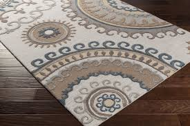 Mohawk Home Forest Suzani Rug Artistic Weavers Lounge Alanna Hand Tufted Beige Gray Area Rug