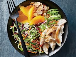 orange almond chicken and cabbage bowls recipe cooking light