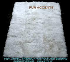 White Fur Area Rug White Fur Shag Rug Cloud Shaggy Soft Faux Area