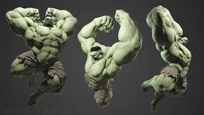 smashing hulk yanir tearosh fan art 3d cgsociety