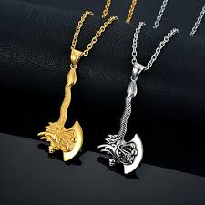 necklace dragon images 18k gold plated dragon axe necklace fanduco jpg