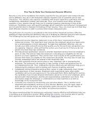 resume objective statement for restaurant management restaurant resume objectives nardellidesign com