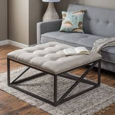 brown leather square ottoman coffee table when you open lid you