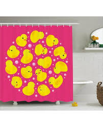 Duck Shower Curtains Duck Shower Curtain Bubbles Pink Print For Bathroom
