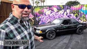 hoonigan mustang interior hoonigan dt 160 matt farah u0027s 1988 fox body mustang youtube