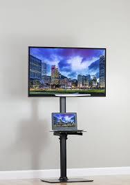 Wooden Tv Stands For Lcd Tvs Amazon Com Vivo Black Steel And Glass Shelf Tv Presentation Floor