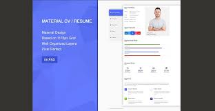 awesome resume templates 20 professional material design resume templates