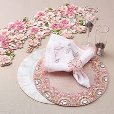 hand beaded table runners new kim seybert hand beaded table runner cherry blossom 39 5 l x