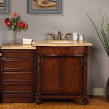 silkroad exclusive 52 inch travertine bathroom vanity with led