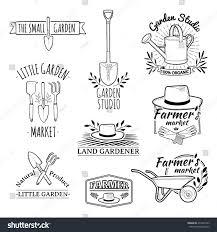 set vintage monochrome retro logos badges stock vector 272247593