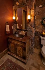 bathroom rustic small half bathroom ideas modern double sink