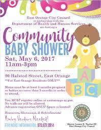 register for baby shower east orange nj