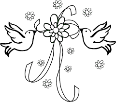 wedding flowers drawing wedding line drawings clip library