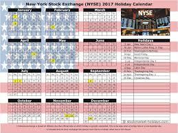 new york stock exchange 2017 2018 holidays nyse holidays 2017