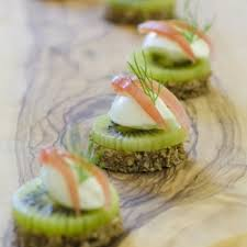 canapes for recipe canapés for kiwi on pumpernickel with