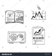 finance investment banking sketch icons financial stock vector