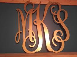 monogrammed wedding gift monogram door hanger three letter monogram wedding gift metal