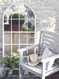 outdoor arched window mirror garden mirrors mirrors