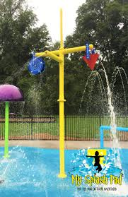 triple fun water play feature by my splash pad