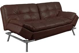 Futon Leather Sofa Bed Best Convertible Futon Sofabed Sleeper Matrix Brown The Futon Shop