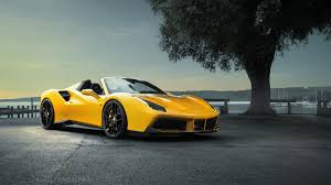 ferrari yellow car yellow ferrari car wide wallpaper 20627 3840x2160 umad com