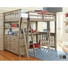 Top Bunk Bed With Desk Underneath Bunk Beds With Desk This Sleek Curvy White Bed Features An