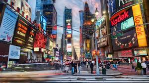 Going To The Bathroom At Night Times Square Wallpaper