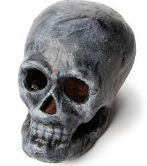 this paper mache skull is an easy diy halloween project