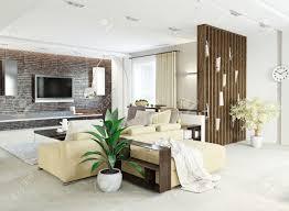 modern living room interior design 3d concept stock photo