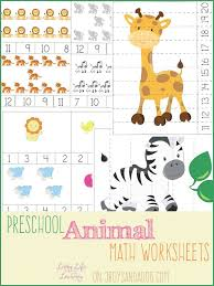animal preschool math worksheets math worksheets preschool and