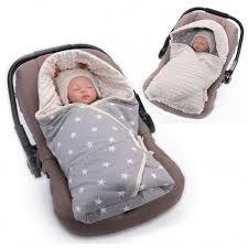 couverture siège auto bébé couverture enveloppante chancelière multi usage réversible etoiles