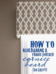 How To Hang A Picture Without Nails Fabric Covered Cornice Board U0026 How To Hang It Shine Your Light