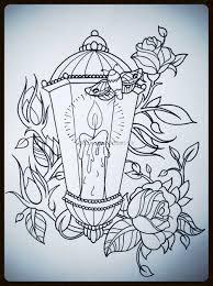 lantern tattoodesign drawings sugar skull l