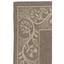 Cream And Grey Rug Tuscana Brown Cream Outdoor Rug By Couristan On Sale Dfohome