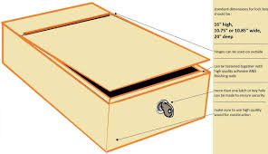 build a small box that can be closed with a lock the home depot