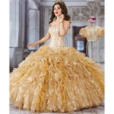 gold quince dresses gold quinceanera dresses with jacket 2 lace ruffles vestido