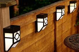 Solar Fence Lighting by 4 Solar Fence Lights