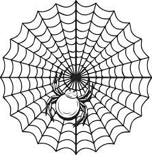 Spider Web Coloring Pages Free Printable Spider Coloring Page For Web Coloring Pages