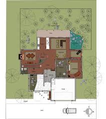 swimming pool house home floor plan plans weber design group