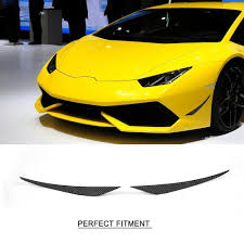 lamborghini huracan front carbon fiber car front bumper side trunk vent scoop fins decoration