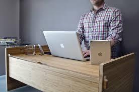 Land Of Nod Desk Ideas Adjustable Wooden Desk Meant To Improve Posture And