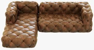 Leather Chair Restoration Restoration Hardware Soho Tufted Leather Left Arm Sofa 3d Model