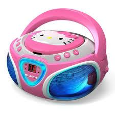 kitty cd boombox fm radio led light show toys