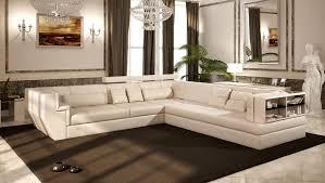 canape haut de gamme canapé angle en cuir vachette blanc