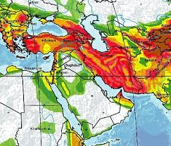 middle east earthquake zone map earthquake risk model for the middle east institute of hazard