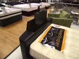 Bed Frame With Tv In Footboard Luxury Faux Leather Tv Bed