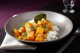 cuisiner un potiron recette de potiron à la thaï curry de pois chiche riz basmati