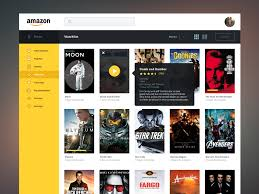 amazon streaming redesign by james cipriano dribbble