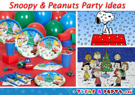 peanuts christmas characters snoopy christmas party ideas